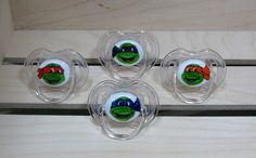 Teenage Mutant Ninja Turtle Handpainted Pacifier by piquantdesigns, $47.50