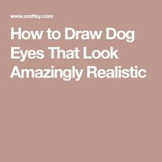 How to Draw Dog Eyes That Look Amazingly Realistic