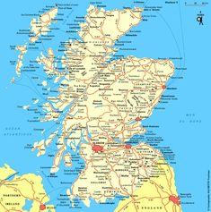 ecosse_carte_grand Glasgow, Road Trip, Scotland, Castle, Coding, Ocean, Map, World, United Kingdom
