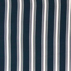 Crepe chiffon off white w navy stripe