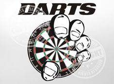 Darts Fist Darts Shirt Design - Available for immediate download to go directly into production on your favorite style of darts shirt.