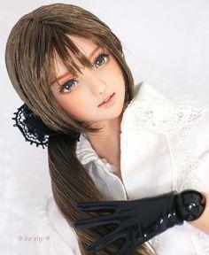 Custom head (Obitsu 01, normal skin, brown hair) * by beshy *