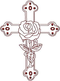 Cross With Roses Coloring Pages See More Inspiration