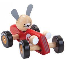 Plan Toys Rabbit Racing Car - Red
