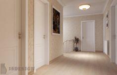Коридор - Дизайн проект интерьера частного дома в Tachlovice (Прага – Запад) под ключ. Интерьер в классическом стиле. Дизайнер – Инна Войтенко. Строительные, отделочные, монтажные работы – компания ISDesign group s.r.o. Alcove, Bathtub, Cottage, Bathroom, Projects, Standing Bath, Washroom, Log Projects, Bathtubs