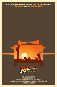 Indiana Jones Raiders of the Lost Ark alternate movie poster
