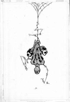 Spiderman By Chris Bachalo. Spiderman Tattoo, Marvel Tattoos, Spiderman Art, Comic Book Artists, Comic Books Art, Chris Bachalo, Marvel Art, Marvel Films, Dibujos Tattoo