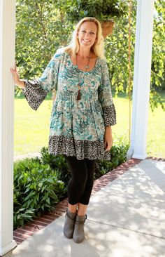 Paisley Peasant Tunic Dress