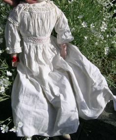 Fine Antique German Doll Dress For China / Bisque Doll or Baby Hand Stitched NR