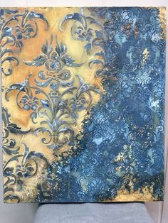 Wall Drawing, Decoupage Paper, Art Abstrait, Stencil Painting, Claude Monet, Medium Art, Mixed Media Art, Diy Art, Art Projects