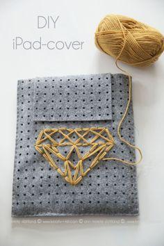 Homemade iPad cover ~ KREATIV - I - TET