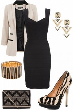 Lovely black and white Outfit styled on Fantasy Shopper #fashion #style