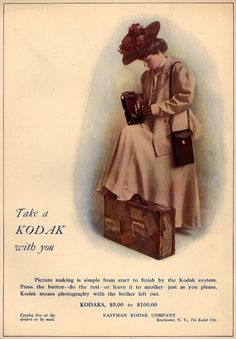 Vintage Photography/ Camera Ads of the (Page Vintage Advertisements, Vintage Ads, Vintage Images, Vintage Ephemera, Kodak Camera, Pinhole Camera, Photography Camera, Vintage Photography, Girls With Cameras