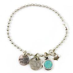 Lucky coin armband pacific opal