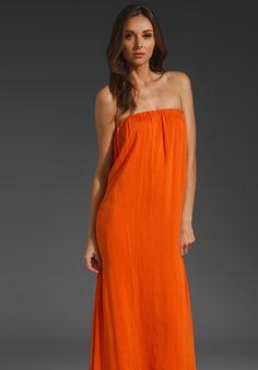 RILLER & FOUNT Esmeralda Strapless Maxi Dress in Papaya at Revolve Clothing - Free Shipping!