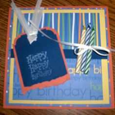 Birthday Card with Candles - Scrapbook.com