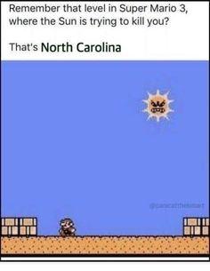 Weather Memes, Super Mario, North Carolina