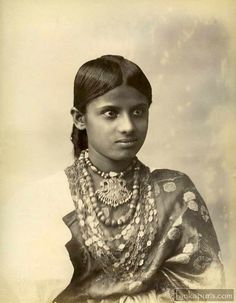 Young woman vintage portrait Ceylon