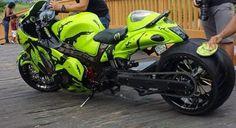 FAT Tire Suzuki Hayabusa GSX1300R Motorcycle #pashnit www.PashnitMoto.com