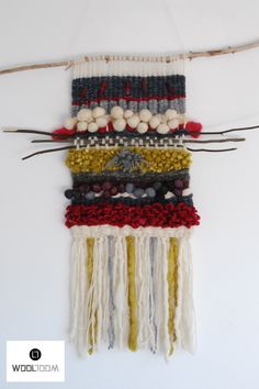 Fairy tale - Hand woven wall hanging // weaving // telar decorativo made by WooL LooM - www.facebook.com/WooLLooM