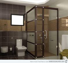 brown bathroom ideas   ... Design Lover 18 Sophisticated Brown Bathroom Ideas - Home Design Lover