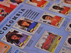 René Higuita destaca en la Colombia de Itala 1990. Álbum de colección / #sports #soccer #fútbol #colección #soccerfan #Bogota #SeleccionColombia