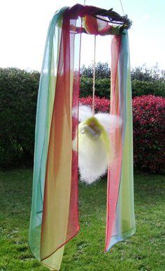 Waldorf Inspired Nursery gift / mobile    An angel by softearthart