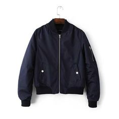cfc13d5b093 Satin shiny zipper windbraker bomber jacket