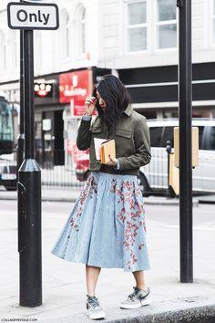 London_Fashion_Week_Fall_Winter_2015-Street_Style-LFW-Collage_Vintage-Modi_Dress_Militar_Jacket-1