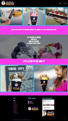 Website for bubble waffle cone Sweet Love Story, Bubble Waffle, Service Awards, Waffle Cones, Waffles, Bubbles, Web Design, Ice Cream, Website