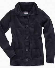 Nautica Kids Sweater, Girls Button-Front Uniform Collar Cardigan - Kids Back To School - Macy's