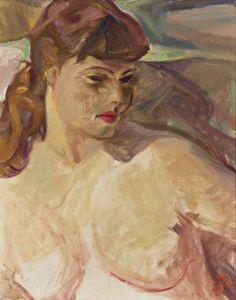 Frederick Varley - Portrait of Nancy 20 x 16 Oil on canvas Group Of Seven, Oil On Canvas, Portrait, Painting, Art, Art Background, Headshot Photography, Painting Art, Kunst