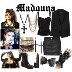costume I would like to be Madonna for Ha - 80s Theme Party Outfits, 80s Party Costumes, 80s Halloween Costumes, Costume Ideas, 1980s Costume, Madonna 80s Outfit, Madonna Fashion, 80s Fashion, Madonna Costume