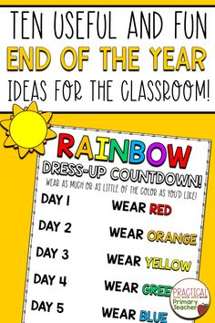 TEN Useful and Fun End of the Year Classroom Ideas! 1st Grade Activities, End Of Year Activities, Teaching Activities, Teaching Resources, Teaching Ideas, Teacher Blogs, Teacher Hacks, Student Games, Memory Books