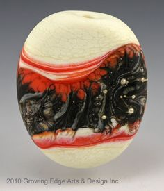 """Dragonfest"".....glass lampworked focal bead by Growing Edge Glass"