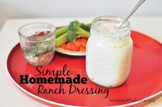 After testing and tweaking a few different recipes, I finally settled on a homemade ranch dressing that I really love and that tastes even better, in my opinion, than the kind I grew up with!