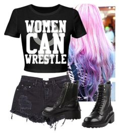"""""""We can wrestle!!"""" by assexyaswesley ❤ liked on Polyvore featuring Ash, WWE, divas, wwediva, wwedivas and wwenxt"""