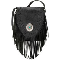 American West Seminole Soft Crossbody Fringe Bag ($238) ❤ liked on Polyvore featuring bags, handbags, shoulder bags, cross body, cowgirl handbags, western cross body handbags, american purse and fringe crossbody handbags