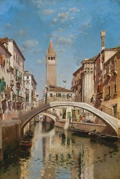 MARTIN RICO Y ORTEGA  Spanish (1833-1908)  Venetian Scene  oil on canvas, signed lower left.  27 x 18 3/4