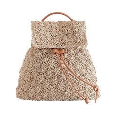 2018 Straw Backpack Drawstring Straw Bag Hollow Out Preppy Knitting Backpacks Manual Made Tote Beautiful Beach Bag Backpack Mochila Crochet, Crochet Backpack, Small Backpack, Rucksack Backpack, Girl Backpacks, Girls Bags, Boho, Retro, School Bags