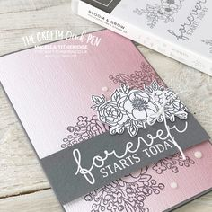 Engagement Cards, Basic Grey, Cards For Friends, Flower Images, Free Paper, Inspire Others, My Stamp, New Beginnings, Pattern Paper