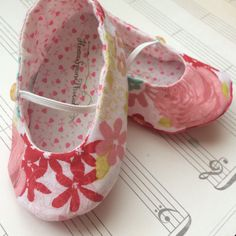 A personal favorite from my Etsy shop https://www.etsy.com/listing/268547044/newborn-ballet-slippers