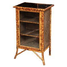 19th Century English Bamboo Cabinet with Fine Japanning | From a unique collection of antique and modern cabinets at http://www.1stdibs.com/furniture/storage-case-pieces/cabinets/