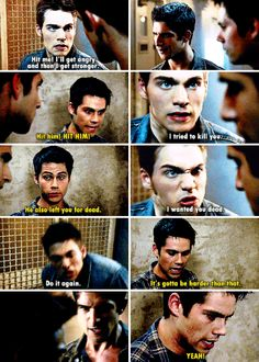 "Teen Wolf Season 5B Episode 15 ""Amplification"" Liam Dunbar, Scott McCall and Stiles Stilinski"