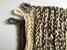 DIY Pattern for Hand Knitted Trivet Pot Holders in Beige Brown PDF downloadable file with pattern instructions by CrochetKnitandMix on Etsy
