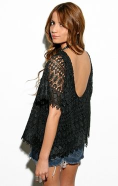 Lace Flux Low Back Blouse - TOPS - Shop Online ($200-500) - Svpply
