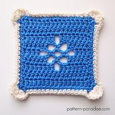 Free Crochet Pattern: Casablanca Crochet Square | Pattern Paradise Crochet Sampler Afghan Pattern, Granny Square Crochet Pattern, Crochet Squares, Crochet Patterns, Crochet Granny, Blanket Crochet, Granny Squares, Crochet Art, Free Crochet