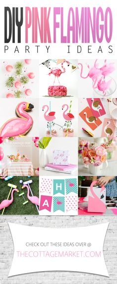 DIY Pink Flamingo Party Ideas Do you love Flamingos? Well here are some Flamingo Party Ideas and Flamingo DIYS that will put the PINK into your life!