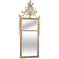 Regency Giltwood Mirror with Wedgewood Cameo