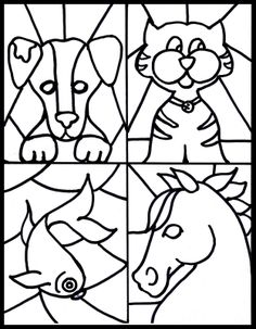 Free stained glass pet printable-Kid's craft